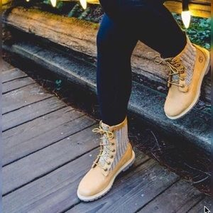 Timberland Booties Open Weave Wheat Nubuck Boots